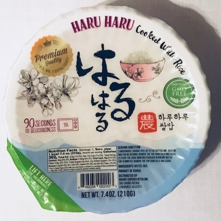best korean instant rice haru haru rice