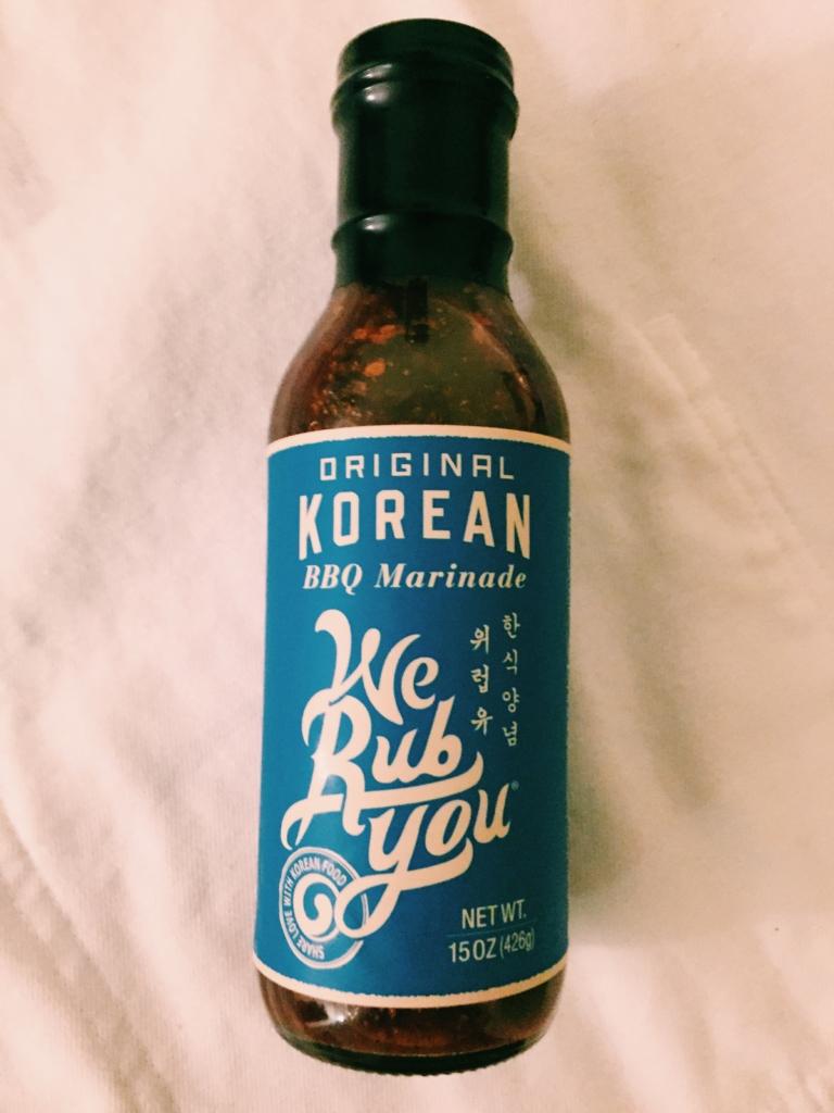 We Rub You Korean BBQ Marinade Sauce