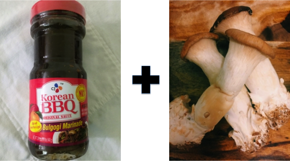 editor's pick cj's bulgogi sauce trumpet mushrooms