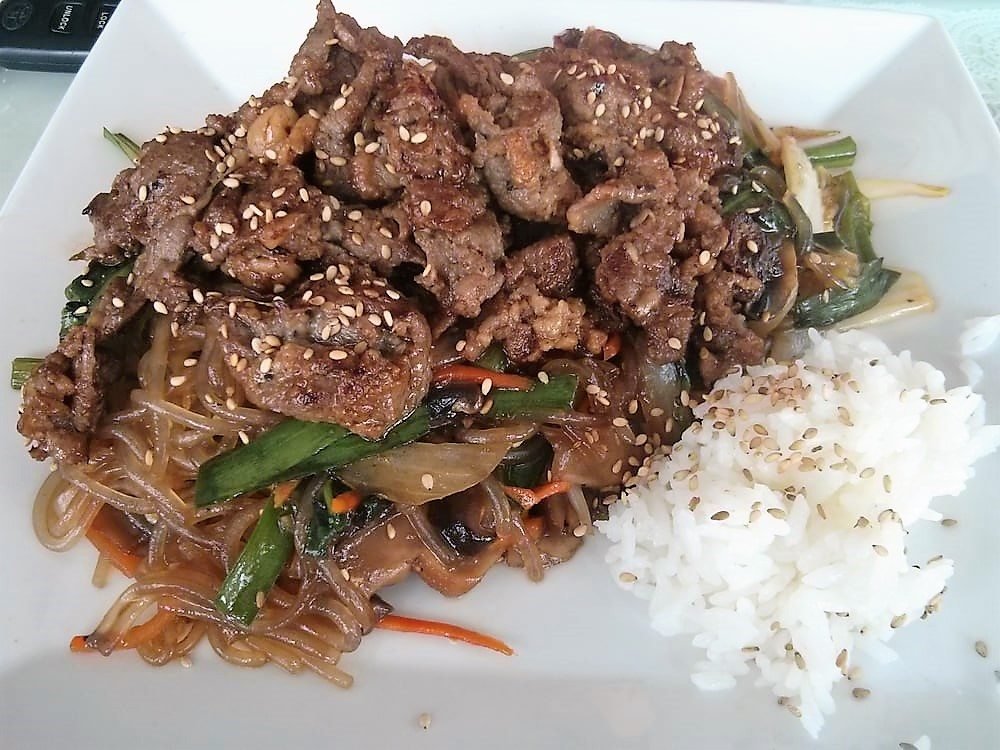beef japchae o cafe korean restaurant kansas