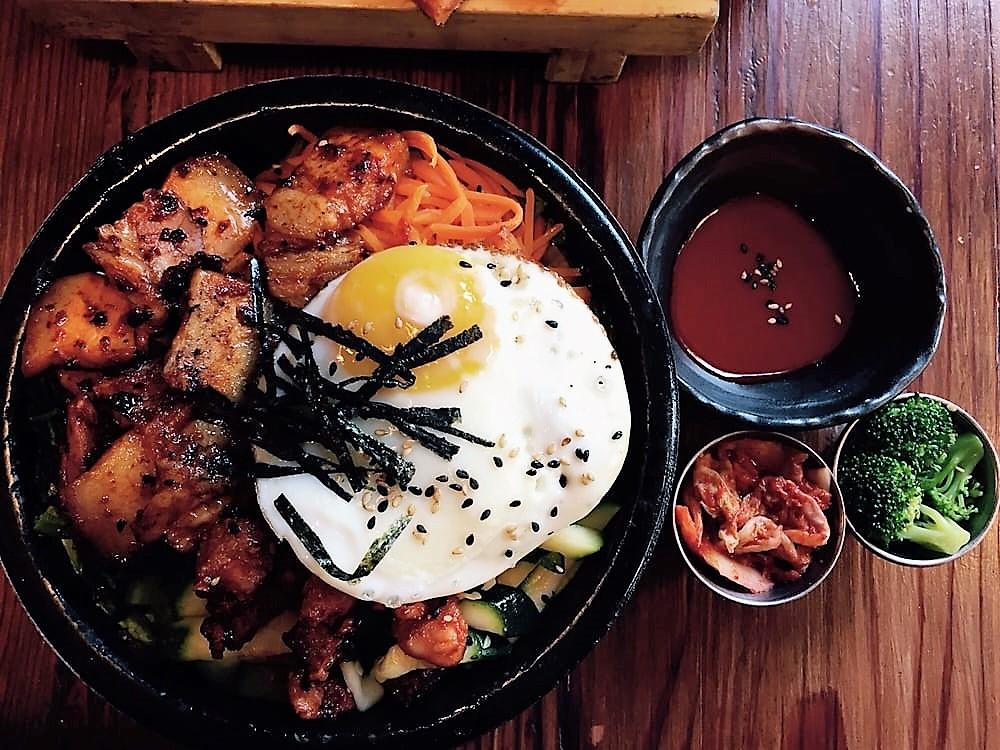 Dolsot Bibimbap Den Den Cafe Asiana Providence, Rhode Island