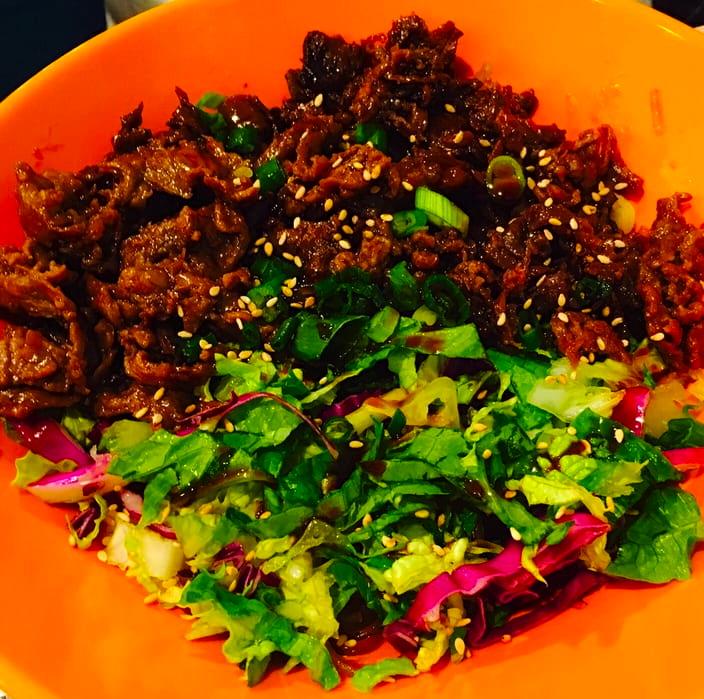 Spicy Pork Bowl Asian Pear Albuquerque New Mexico