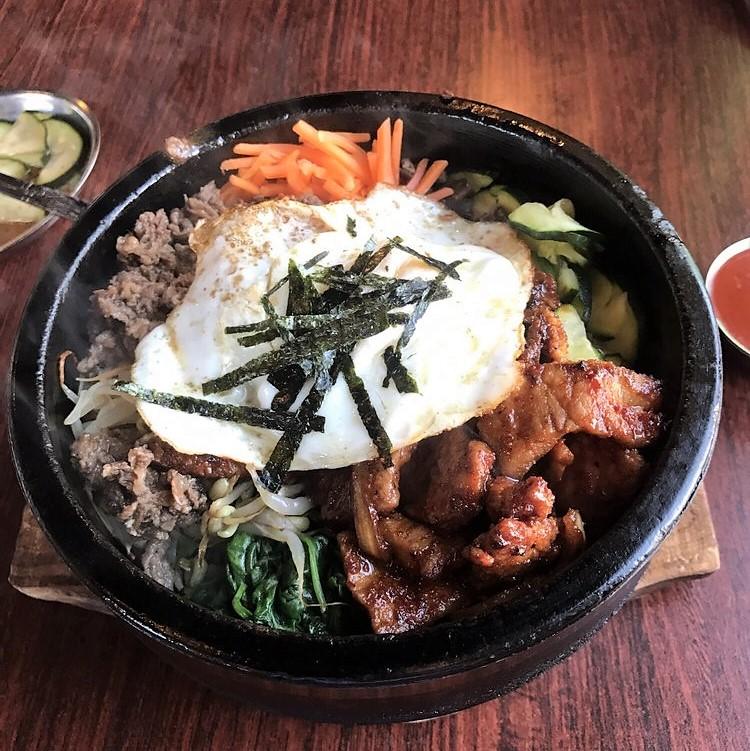 bibimbop bulgogi stone bowl whistle pig restaurant montana