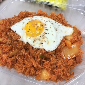 bart grocery bbq kimchi fried rice