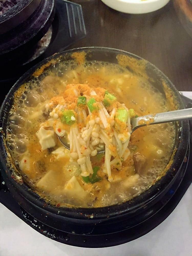 mushroom tofu soup sundubu soy tofu
