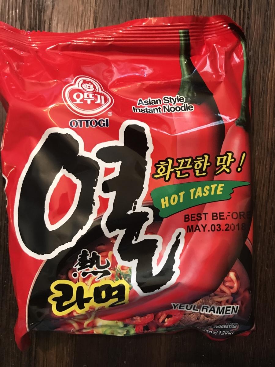 Korean Spicy Instant Ramen - Ottogi Yeul Ramen
