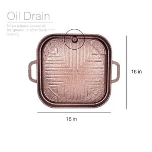Hanaro Alpha Stove Top Korean Made Smokeless/Waterless Grill, Korean BBQ Plate, Korean BBQ Grill Top
