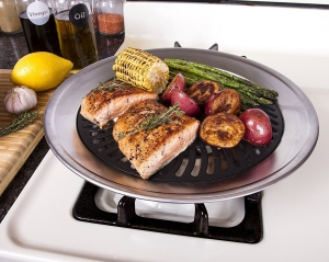 Kitchen + Home Stove Top Smokeless Grill, Korean BBQ Plate, Korean BBQ Grill Top