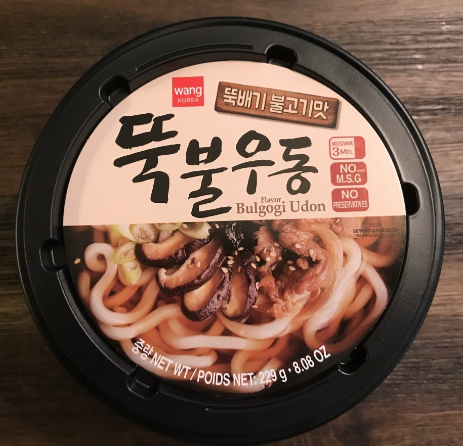 best korean instant udon other brands tested Wang's Bulgogi Instant Udon