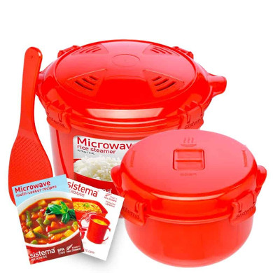 Best Microwave Rice Cooker Sistema Microwave Cookware Rice Steamer Set with Lids